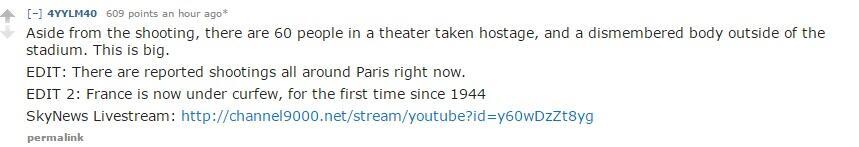 [BREAKING] Penembakan, Penyanderaan & Bom di Paris; 60 tewas, 100 disandera!!!