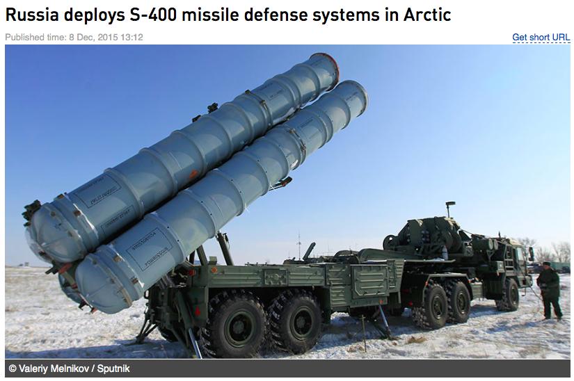 s400 udah di coLok di artik untuk pertahanan rusia