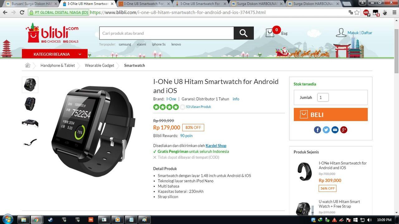 ... I One U8 Smartwatch Sekarang Ga Pake Mahal Gan Cek Price Here New Jam Tangan For