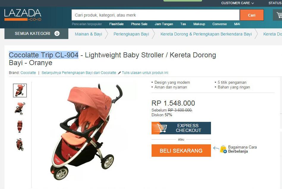 Harga Jual Harga Kereta Dorong Bayi Di Semarang