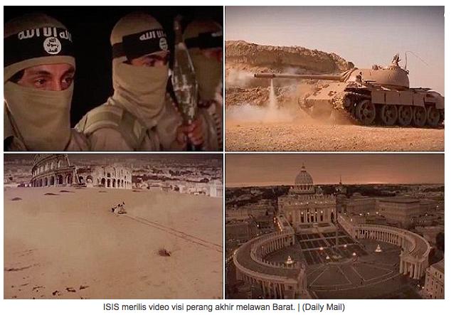Puncak Tempur di Roma, ISIS Rilis Video Visi Perang Akhir zaman Lawan Barat