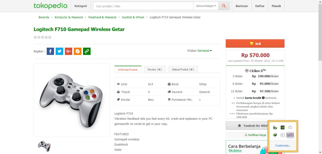 Logitech Wireless Gamepad F710 Stik Yang Cocok Buat Nge Pes Stick Joystick For Pc Garansi Resmi Fifa