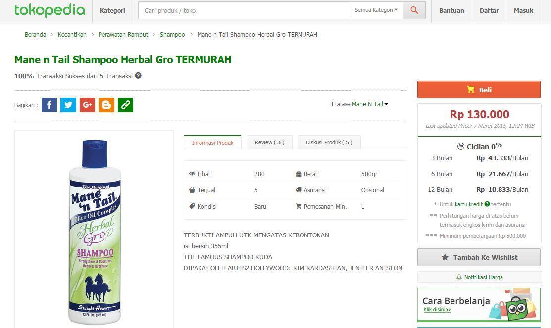 Mane 'n Tail Herbal - Gro Shampoo: Yang lagi nyari sampo disini tempatnya gan!