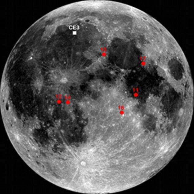 "Pesawat luar Angkasa China "" Jade Rabbit "" Menemukan Moon Rock"