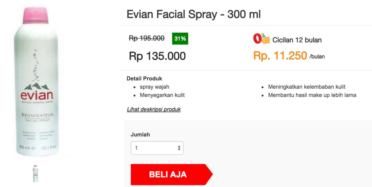 Evian Facial Spray Kaskus 300ml 300 Ml