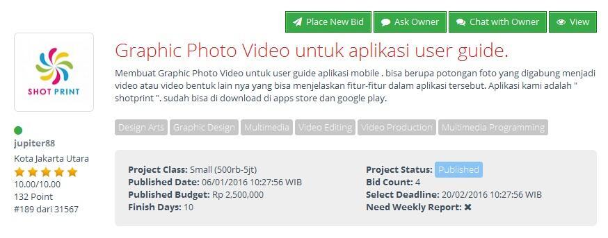 [FREELANCER] Graphic Photo Video untuk aplikasi user guide
