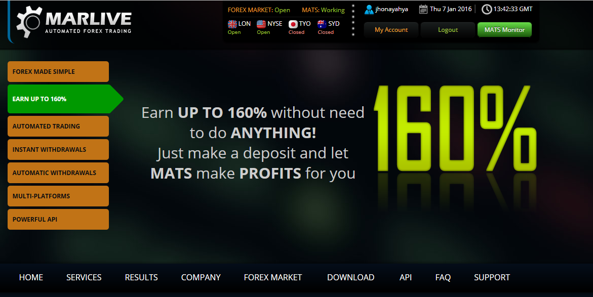 Marlive automated forex trading system