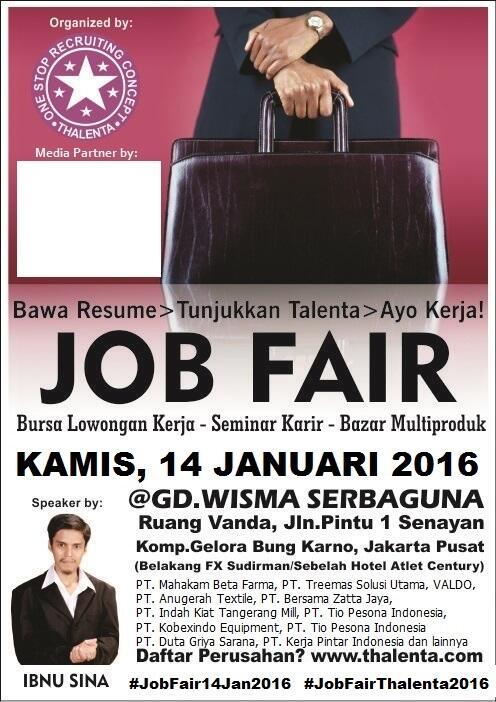 JobFair Thalenta Expo, Kamis, 14 Januari 2016 @ Wisma Senayan