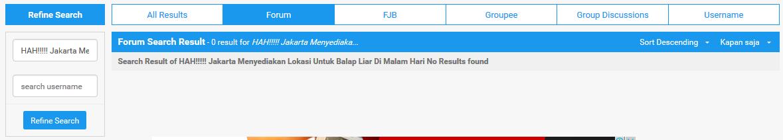 HAH!!!!! Jakarta Menyediakan Lokasi Untuk Balap Liar Di Malam Hari