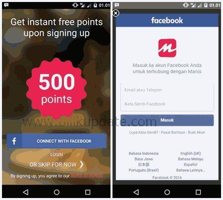 New App Dapat Pulsa 5000 Per Refferal Dari Aplikasi Manis Instant