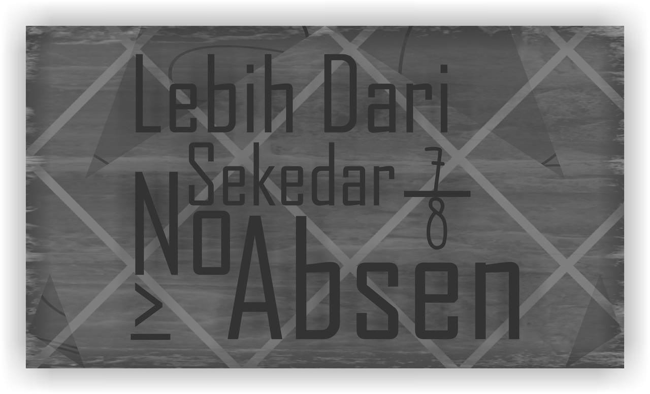 -Lebih Dari Sekedar No Absen-