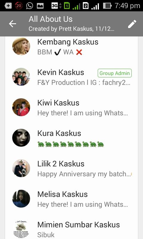 Grup WhatsApp 'All About Us'
