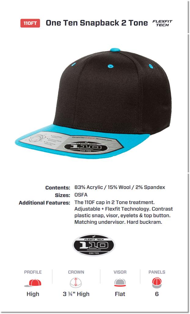 DISTRIBUTOR FLEXFIT 110FT One Ten Snapback 2 Tone Topi YUPOONG BY  GILDAN  +PLUS  5a3d0847b7cc