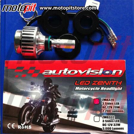 HID DRL LED lebih terang & hemat listrik. Bikin motormu makin keren sekarang!