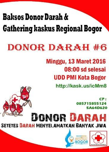 Donor Darah Kaskus Regional Bogor Ke 6 Kaskus
