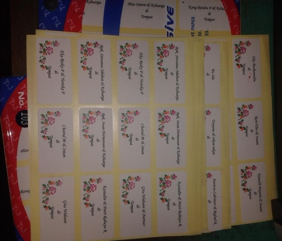 Jasa Ketik & Print Label Surat Undangan