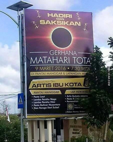 [KASKUS COMMUNITY] Gerhana Matahari Total di Balikpapan, 9 Maret 2016