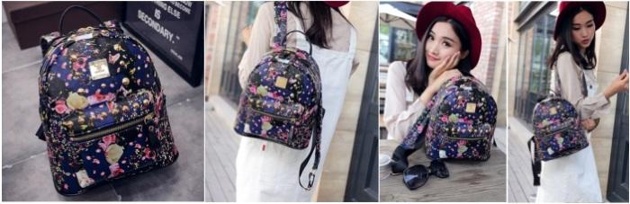 TAS (FASHION) KOREAN STYLE - PU LEATHER KOMBINASI (LAPIS) RENDA BORDIR ( a29971b608