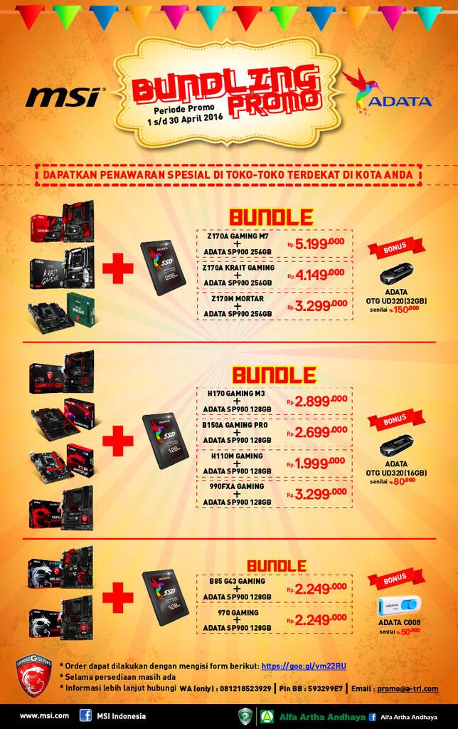 [Promo Bundling] Free USB OTG Adata 32GB, 16GB dan Flash disk Adata