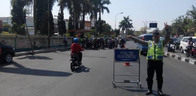 Titik kemacetan di kota Surabaya
