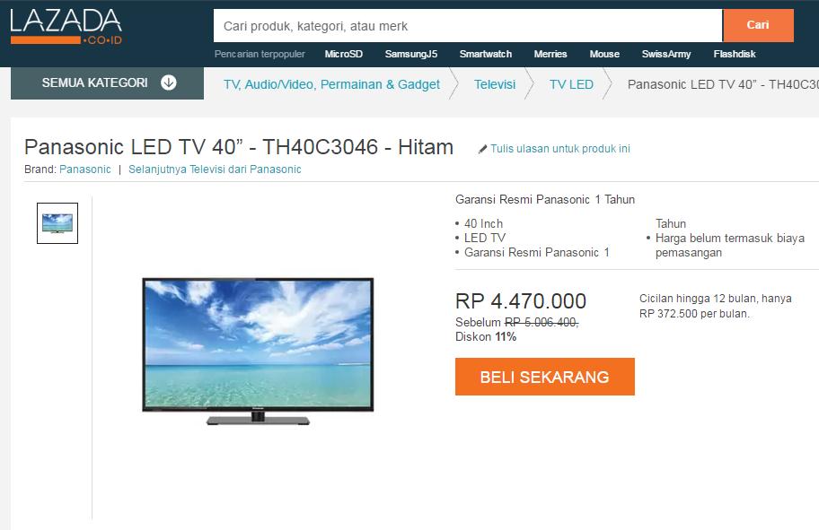 [ELEKTRONIK DEAL] PANASONIC LED TV 40 Inch!