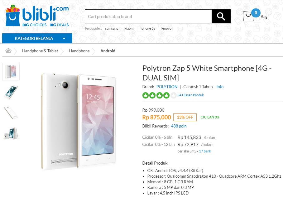 [Gadget Deal] Polytron Zap 5 Under 900K!