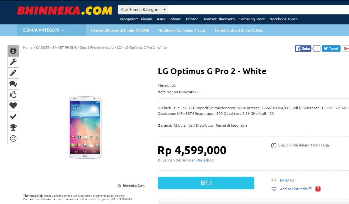 [Gadget Deal] LG G Pro 2 LTE!