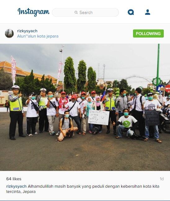 #GerakanPungutSampah di Sabotase Polres Jepara?