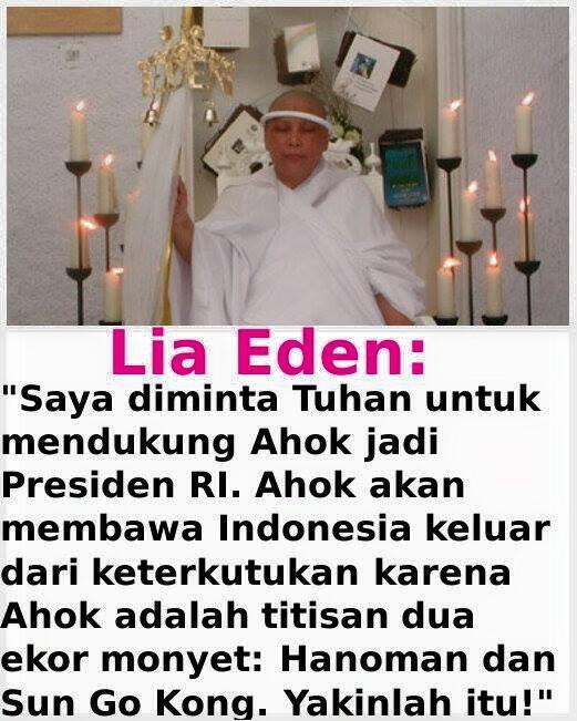 Lia Eden sebut Ahok adalah titisan Hanoman & Sun Go Kong