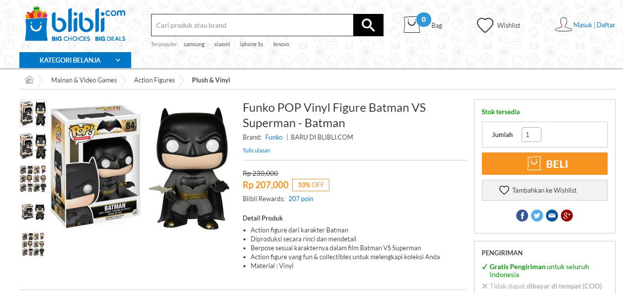 Promo action figure Funko Batman V Superman!