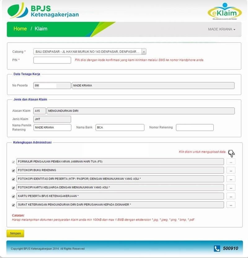 Perorangan formulir pdf bpjs