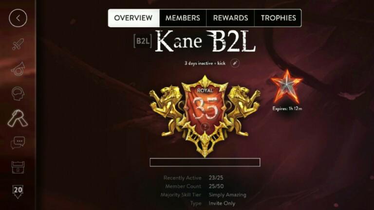 Kane B2L Vainglory Guild