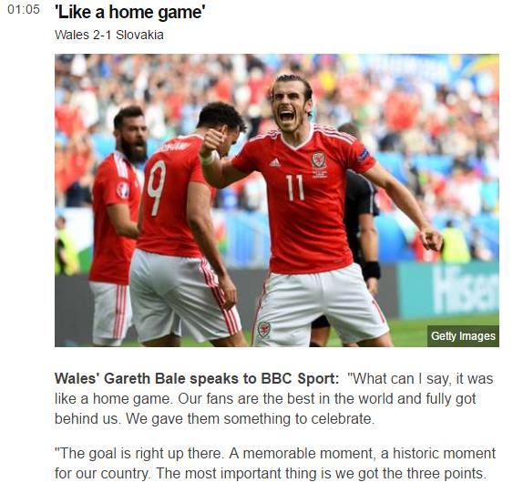 Ini Dia Reaksi Berbagai Media Atas Kemenangan Perdana Wales!