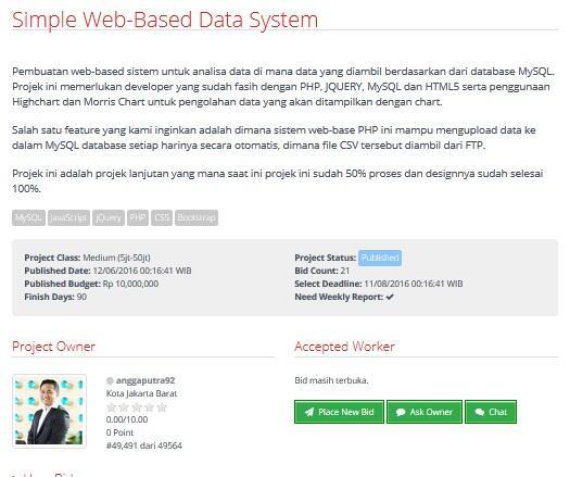 [LOWONGAN FREELANCER] Simple Web-Based Data System [10jt]