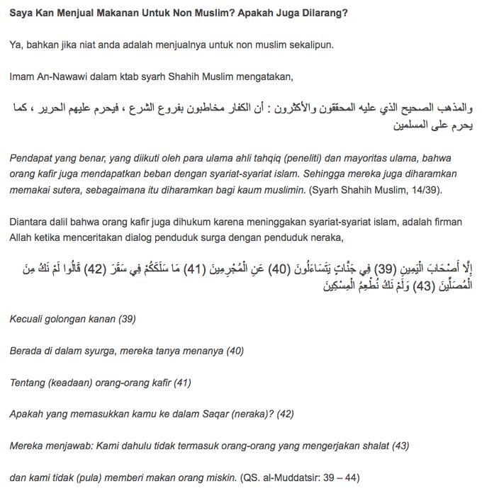 Hukum Menjual dan Berdagang makanan di Siang hari saat Ramadhan