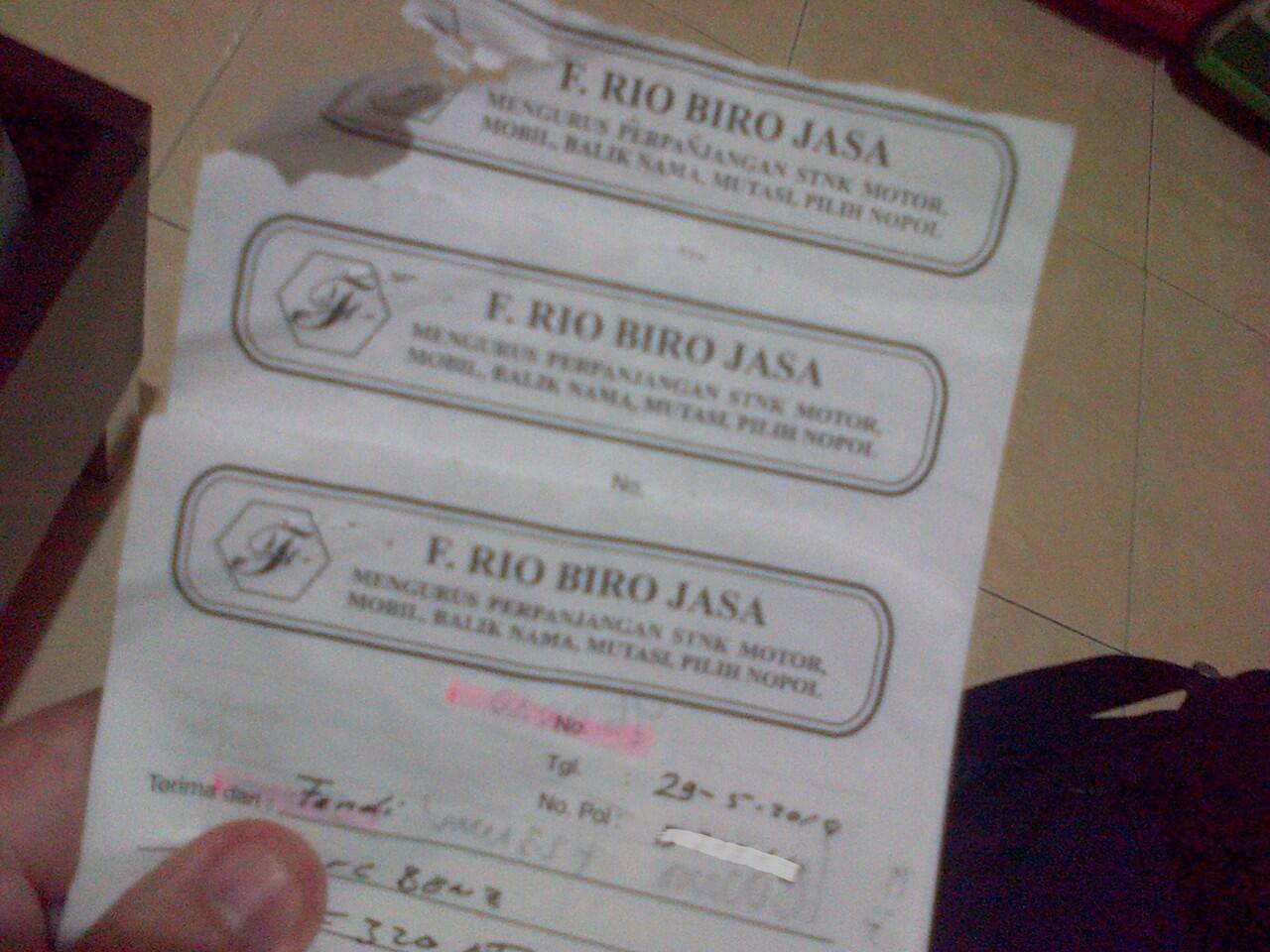 Biro Jasa Penipu Fransiskus Rio Sulaiman