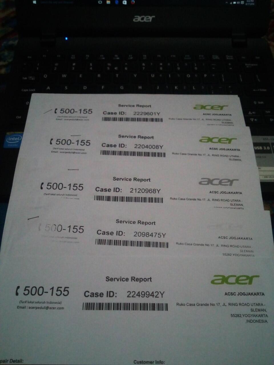 Kecewa dengan Pelayanan Acer Service Center Jogja