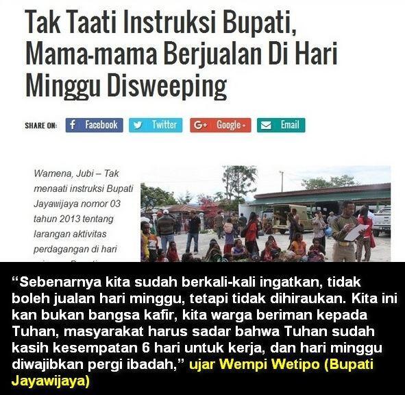 Perda Terkait Ramadhan Dipersoalkan, Bagaimana di Papua dan Bali???