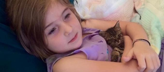 Gadis Kecil Selamatkan Anak Kucing Cyborg, Dan Kini Mereka Tak Terpisahkan