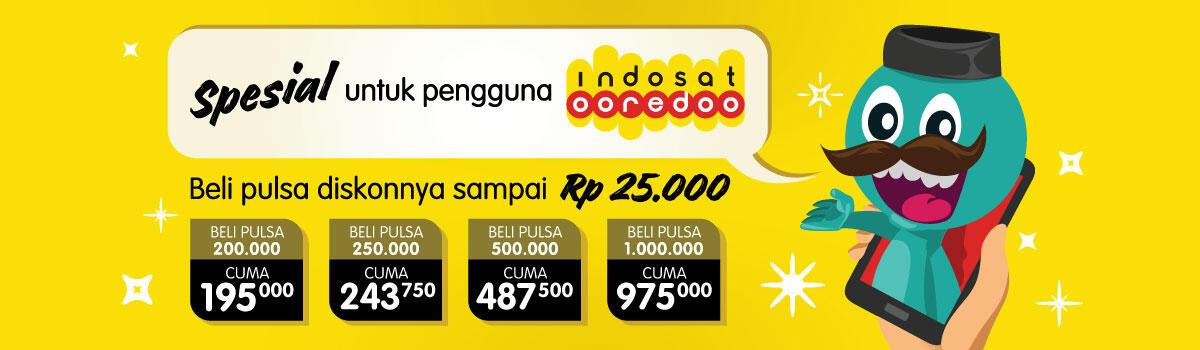 Ada Promo Indosat Ooredoo di Warung E-Pulsa KASKUS!