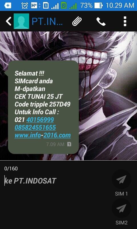 Hampir Tertipu Penipuan PT. INDOSAT
