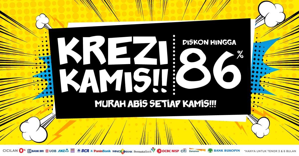 KamisKREZI - DISKON KHUSUS HARI KAMIS dari Bl*nja.com