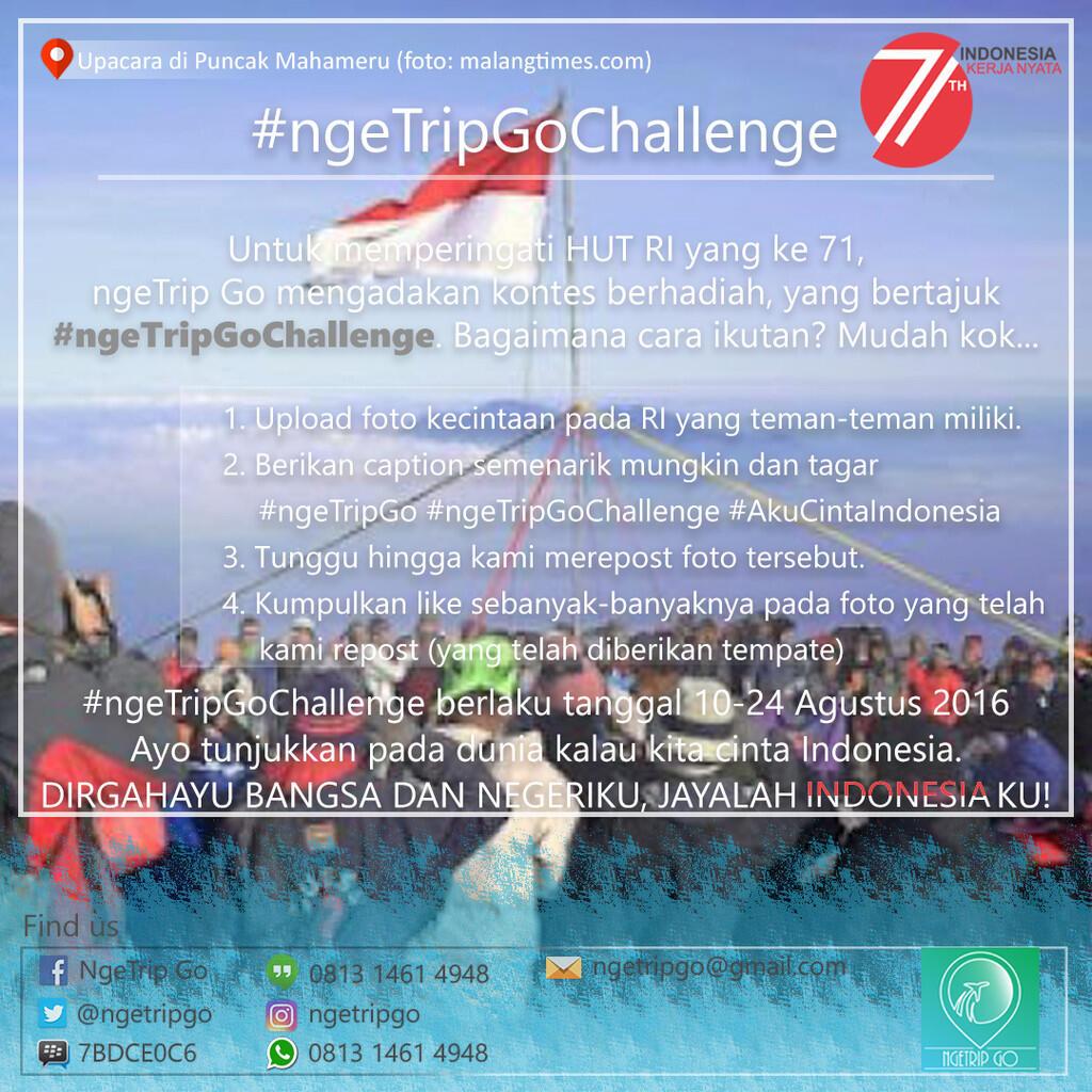Kontes Foto Berhadiah Spesial HUT RI 71 dari ngeTrip Go