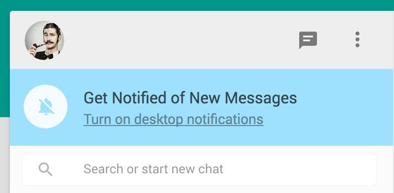 [WTA] Whatsapp web desktop notification