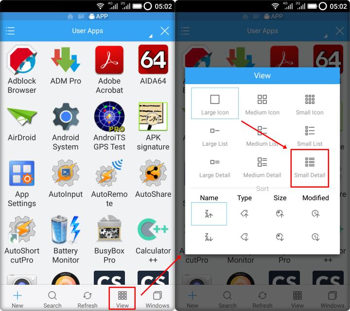 Last Installed Apps - EFE APP Manager