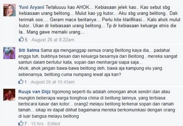Warga Bangka Belitung Marah, Ahok Sebut Omongan Kotor Kebiasaan Kampung