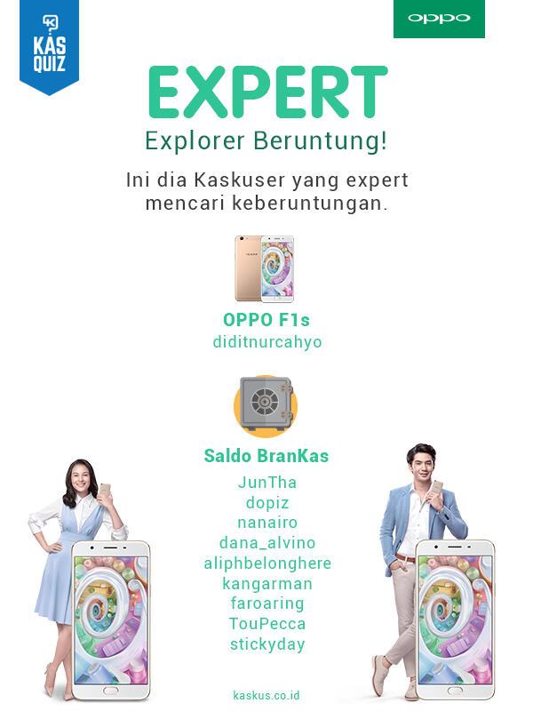 KasQuiz EXPERT, Jadilah Penjelajah Banner OPPO di KASKUS Gan!