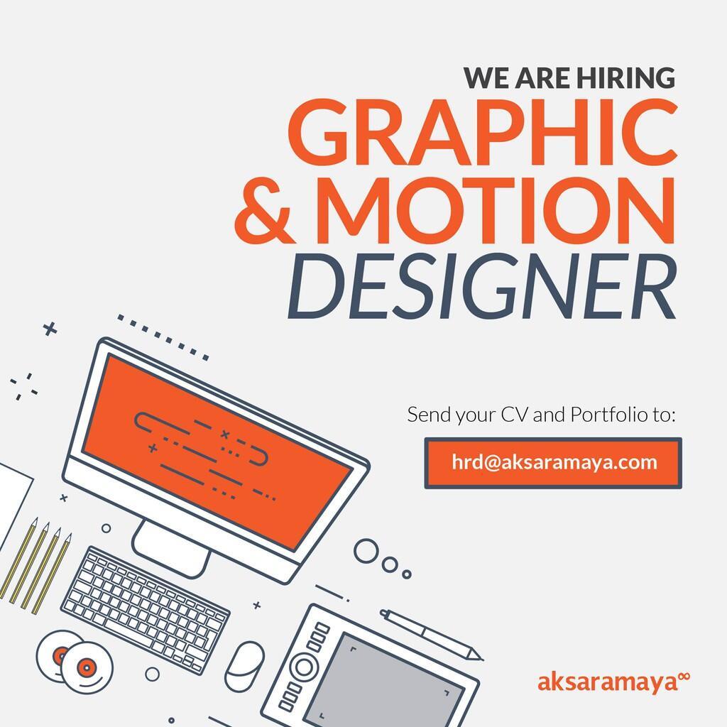 [JAKARTA SELATAN] Lowongan Graphic And Motion Designer