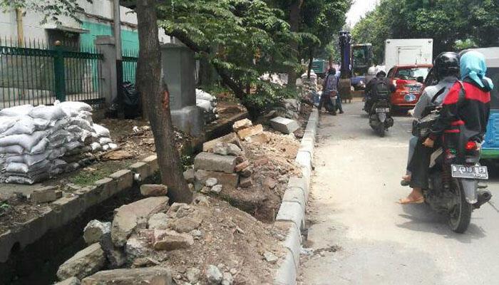 Trotoar di 9 Kecamatan di Jakpus Diperbaiki