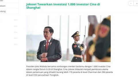 Surat Pengharapan RRADH Kepada Bapak Presiden Jokowi Mengenai Rekomendasi Investor